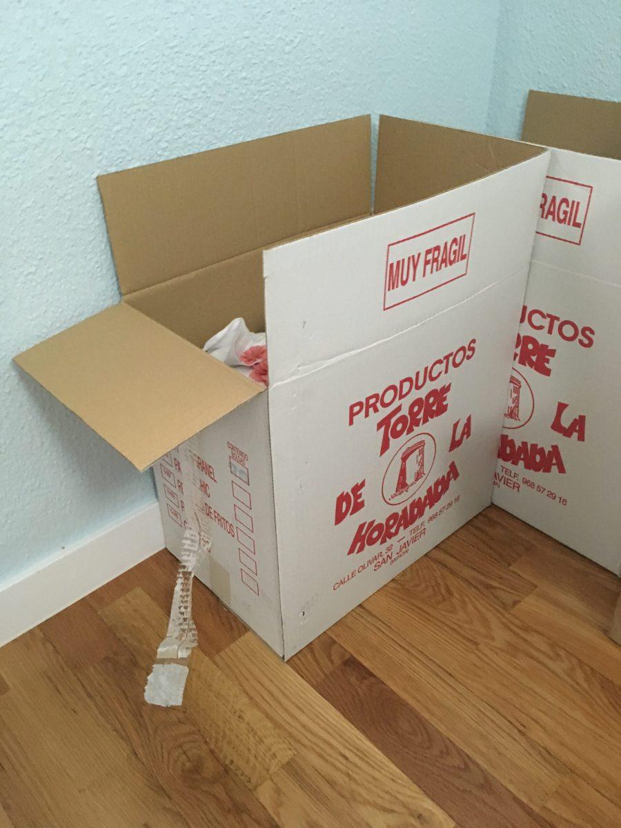 Quiero enviar unas cosas, pero no tengo caja